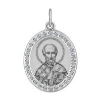 Серебряная иконка с фианитами ДИ94100217