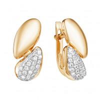 Золотые серьги с фианитами ЮИС132-4293