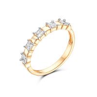 Золотое кольцо с фианитами 3ВК132-768