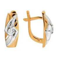 Золотые серьги с бриллиантами ЮЗ2-11-0695-101