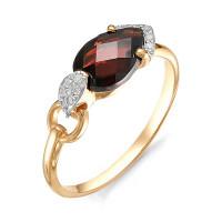 Золотое кольцо с гранатами и фианитами НЮ102020191505гр