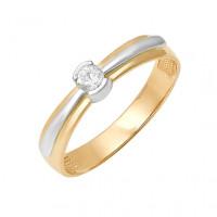 Золотое кольцо с бриллиантом ДПБР110156