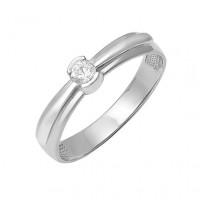 Кольцо из белого золота с бриллиантом для помолвки