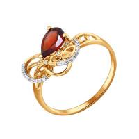 Золотое кольцо с гранатами ДИ712726