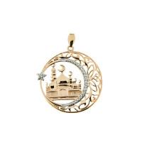 Золотая мечеть ДИ034449 подвеска для мусульман