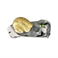 Серебряная подвеска с демантоидами