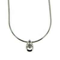 Золотое колье с бриллиантом КТЗКУЛ89376-1