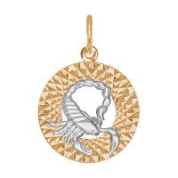 Золотой знак зодиака «скорпион» ДИ031384