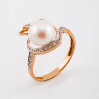 Золотое кольцо с жемчугом ФЖ21196.1