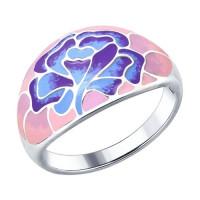 Серебряное кольцо с эмалью ДИ94012268