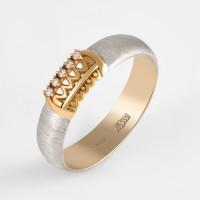 Золотое кольцо обручальное с бриллиантами КАКО-ОКБ290ГМ15