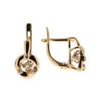 Золотые серьги с Swarovski СК6602255