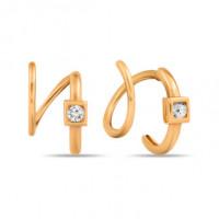 Золотые серьги с фианитами СН01-215064