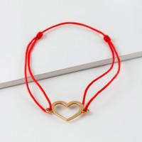 Золотой браслет красная нить ЮПБ1006176