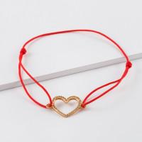 Золотой браслет красная нить ЮПБ1106176