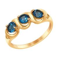 Золотое кольцо с топазами ДИ714862