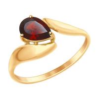 Золотое кольцо с гранатами ДИ714868