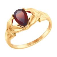 Золотое кольцо с гранатами ДИ714865