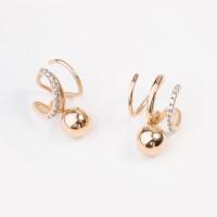 Золотые серьги с фианитами СН01-215137 женские