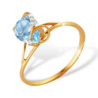 Золотое кольцо с топазами ЮПК1341042