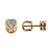Золотые серьги гвоздики с бриллиантами ЮЗ5-11-0572-101 женские