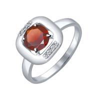 Серебряное кольцо с гранатами ДИ92011091