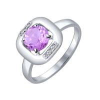 Серебряное кольцо с аметистами ДИ92011092