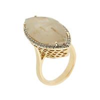 Золотое кольцо с кварцем РВ00048736