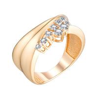 Золотое кольцо с Swarovski ЮЫ2002000S26227