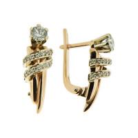 Золотые серьги с бриллиантами РГ525