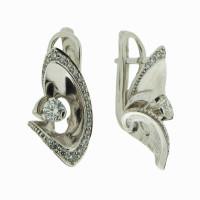 Золотые серьги с бриллиантами РГ573