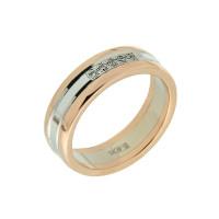 Золотое кольцо обручальное с сваровски 8Н6110308
