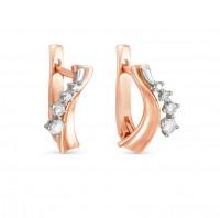 Золотые серьги с бриллиантами 9К12-0189
