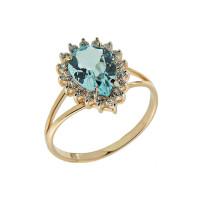 Золотое кольцо с аметистами ГС1320998тр