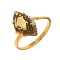 Золотое кольцо с топазами НА1180414
