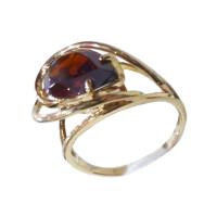 Золотое кольцо с гранатами ГС1443655