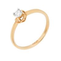 Золотое кольцо с бриллиантом МБ1-105-04