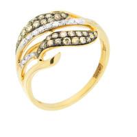 Золотое кольцо с бриллиантами ЮЕР28570