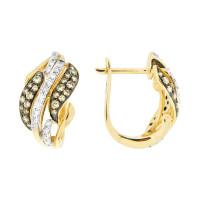 Золотые серьги с бриллиантами ЮЕЕ28570Р
