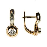 Золотые серьги с бриллиантами МЭС09390