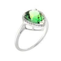 Серебряное кольцо с топазами МЮР1063