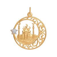 Золотая мечеть с фианитом