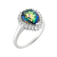 Серебряное кольцо с топазами МЮР1044