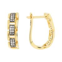 Золотые серьги с бриллиантами ЮЕЕ29533Р