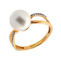 Золотое кольцо с жемчугом ПЭ1901422Р
