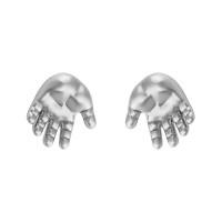 Серебряные серьги гвоздики ИАС22160