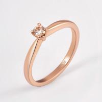 Золотое кольцо с бриллиантом ЛФР01-Д-СОЛ35-015-Г3к