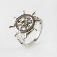 Серебряное кольцо с фианитами СЫ21ВБВ2113