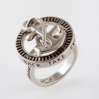 Серебряное кольцо с эмалью СЫ0101АП113