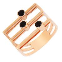 Золотое кольцо с фианитами ЖНТДУ240004